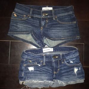 Abercrombie Jean short lot size 12 2 pair used